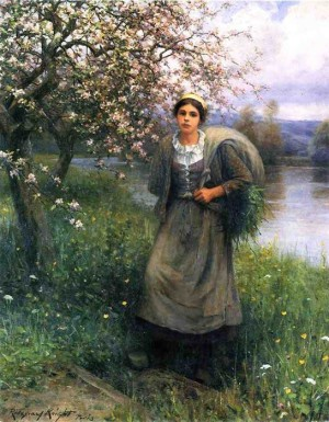 Apple Blossoms in Normandy In the Garden Knight, Daniel Ridgway
