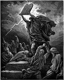 משה שובר את לוחות הברית - גוסטב דורה
